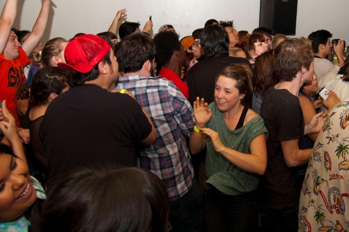 Crowd at Trunk Space